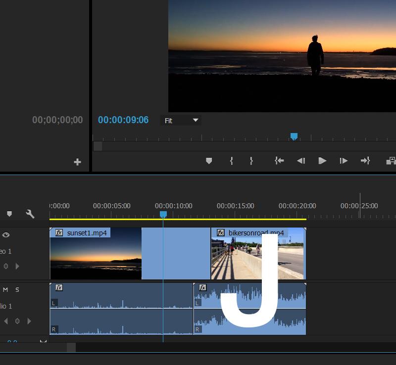 J cut - Atrase o áudio do primeiro corte - Melhore sua técnica de edição