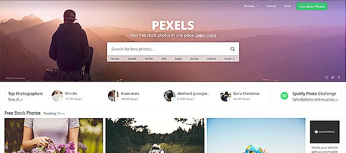 Clique na imagem para acessar o Pexels - Banco de imagens grátis