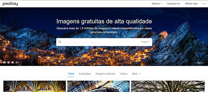 Clieque na imagem para acessar o Pixabay – Banco de imagens grátis